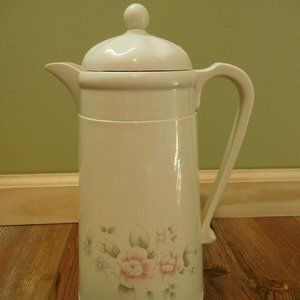 Pfaltzgraff TEA ROSE Thermal Insulated Coffee Pot